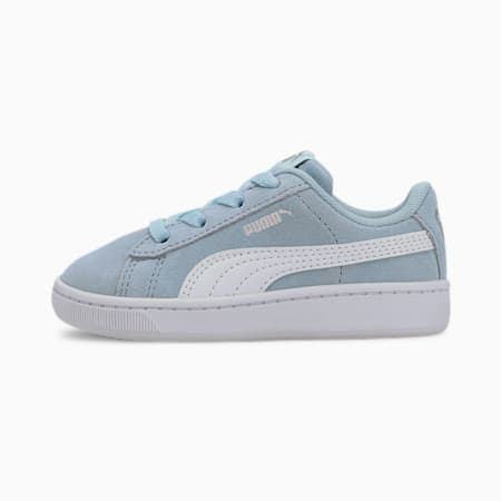 PUMA Vikky v2 Suede AC Sneakers INF, Omphalodes-Puma White-Silver, small