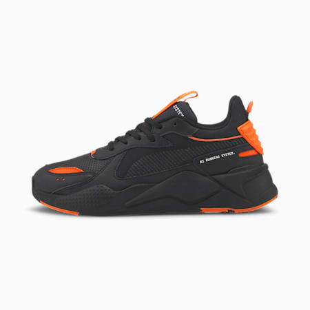 RS-X Winterised Trainers, Puma Black-Ultra Orange, small