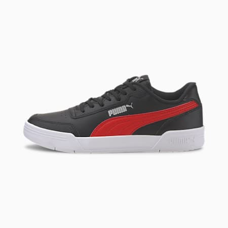 Caracal Kids Shoes, Puma Black-High Risk Red-Puma Silver, small-IND
