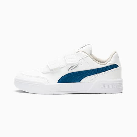Caracal V Little Kids' Shoes, Puma White-Digi-blue, small