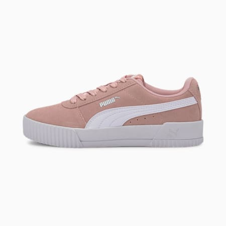 Carina Youth Sneaker, Peachskin-Puma White, small