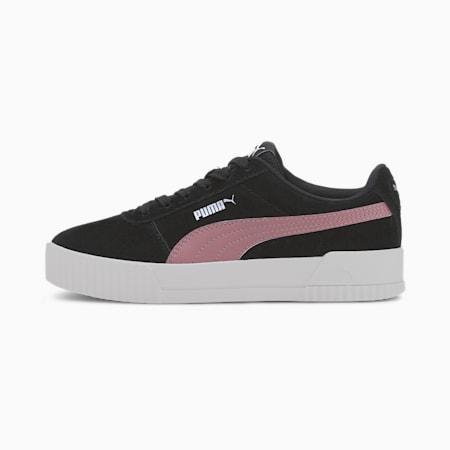 Carina Youth Sneaker, Puma Black-Foxglove, small