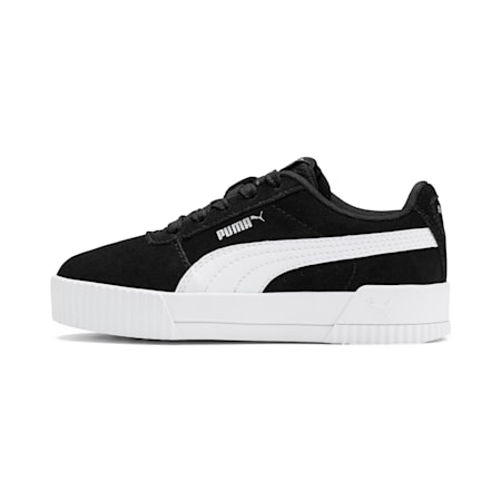 Carina Girls' Shoes, Puma Black-Puma White, small-IND