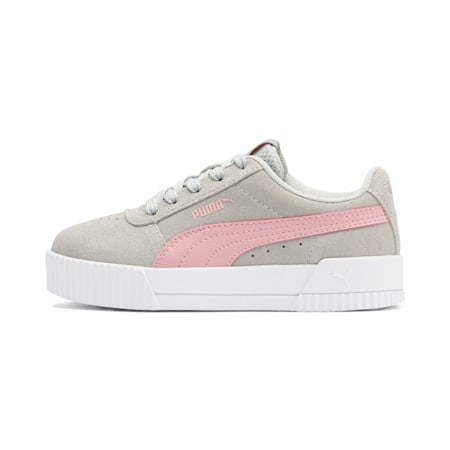 Carina Girls' Trainers, Gray Violet-Bridal Rose, small