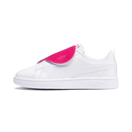 Smash v2 BFF Patent Kids' Shoes, Puma White-Beetroot Purple, small-IND