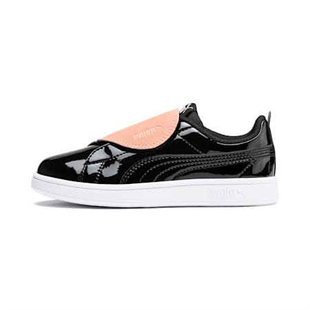 Smash v2 BFF Patent Kids' Shoes, Black-Peach Parfait-White, small-IND