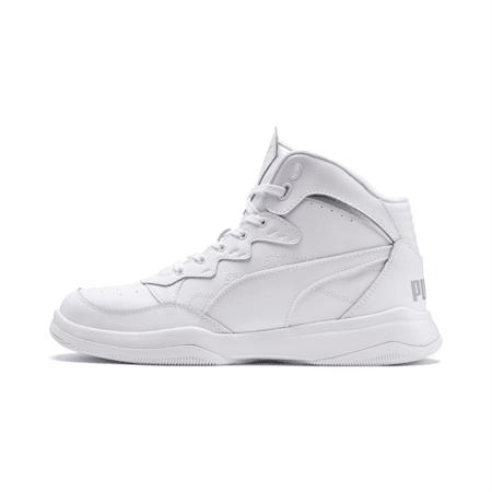 PUMA Rebound Playoff Men's Sneakers, Puma White-High Rise, small