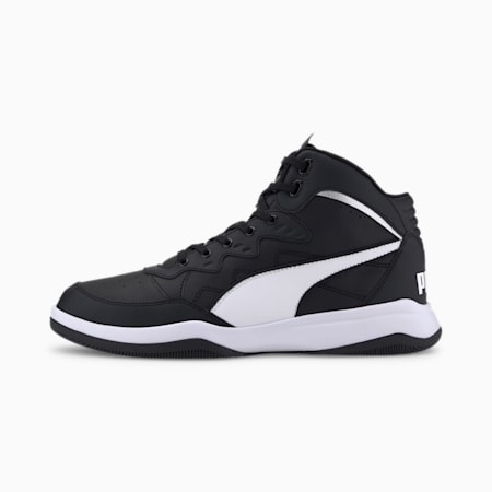 PUMA Rebound Playoff Men's Sneakers, Puma Black-Puma White, small