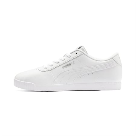 Zapatos deportivos Carina Slim para mujer, Puma White-Puma White, pequeño