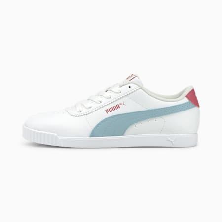 Zapatos deportivos Carina Slim para mujer, White-Blue Fog-Mauvewood, pequeño