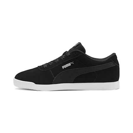 Carina Slim Suede Women's Sneakers, Puma Black-Puma Black, small