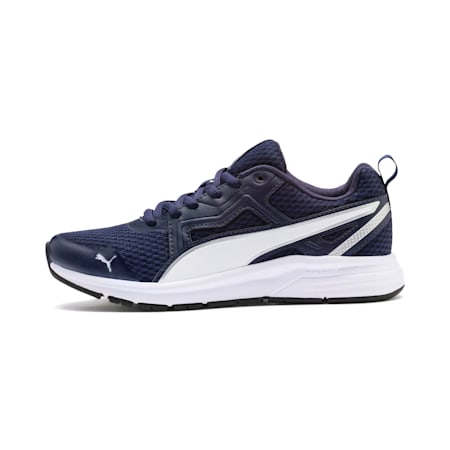 Pure Jogger Youth Shoes, Peacoat-Wht-Slvr-NYellow-Blk, small-IND