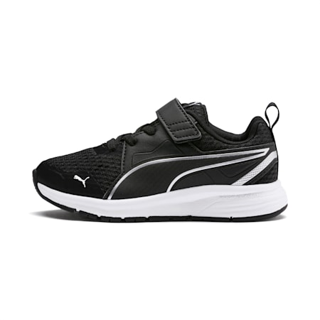 Pure Jogger V Kids' Shoes, Black-Silver-Wht-Nrgy Yellow, small-IND