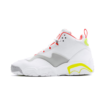 Source Mid Buzzer Shoes, P Wht-Yellow Alert-High Rise, small-IND