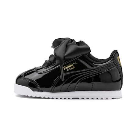 Roma Heart Patent Toddler Shoes, Puma Black, small