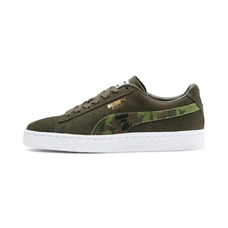 Zapatos deportivos Suede Classic Ambush JR, Dachsund-Garden Green-B-W, pequeño