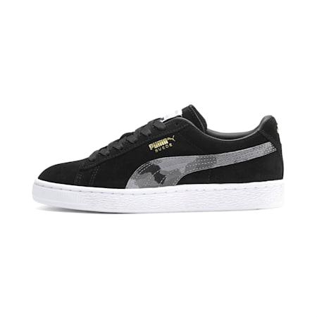 Zapatos deportivos Suede Classic Ambush JR, Puma Black-Castlerock-Puma W, pequeño