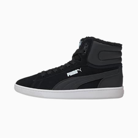 Vikky v2 Mid Fur Youth Mädchen Sneaker, Puma Black-Puma White, small
