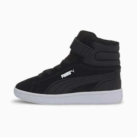 Vikky v2 Mid Fur V Kids Sneaker, Puma Black-Puma White, small