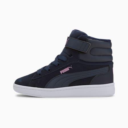 Vikky v2 Mid Fur V Kids Sneaker, Peacoat-Peacoat-Pink-White, small