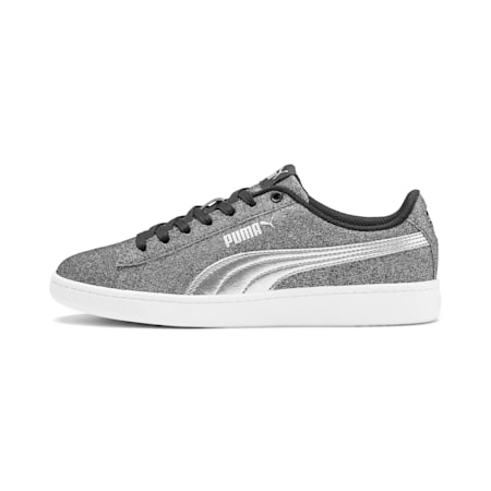 PUMA Vikky v2 Glitz Sneakers JR, Puma Black-Puma Silver-White, small