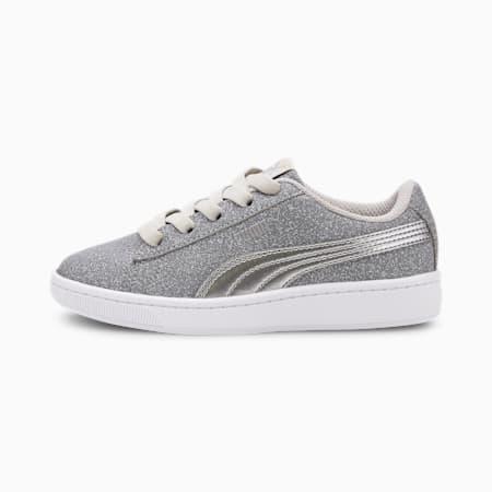 PUMA Vikky v2 Glitz AC Sneakers PS, Gray Violet-Silver-White, small