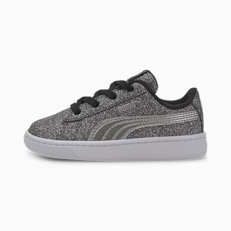 PUMA Vikky v2 Glitz Toddler Shoes, Puma Black-Silver-White, small