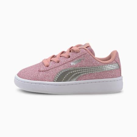 PUMA Vikky v2 Glitz AC Sneakers INF, Bridal Rose-Silver-White, small