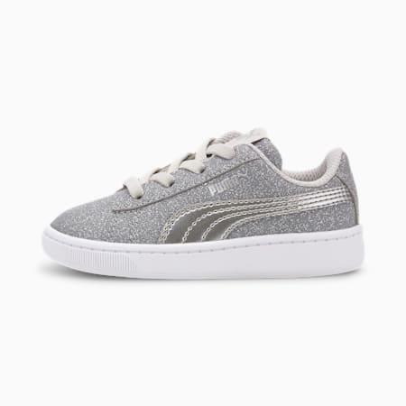 PUMA Vikky v2 Glitz AC Sneakers INF, Gray Violet-Silver-White, small