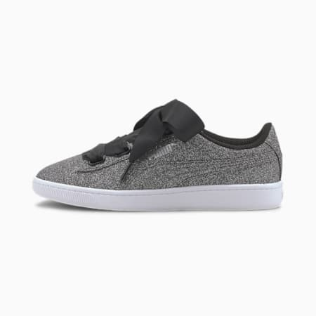 Vikky v2 Ribbon Glitz Sneakers JR, Puma Black-Puma Silver-White, small
