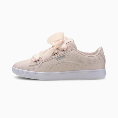Vikky v2 Ribbon Glitz SoftFoam+ Girls' Sneakers, Rosewater-Puma Silver-White, small-IND