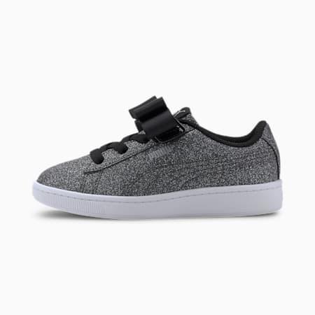 Vikky v2 Ribbon Glitz AC Kids Mädchen Sneaker, Puma Black-Puma Silver-White, small