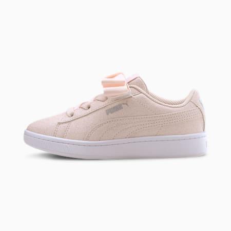 Vikky v2 Ribbon Glitz AC Kids Mädchen Sneaker, Rosewater-Puma Silver-White, small