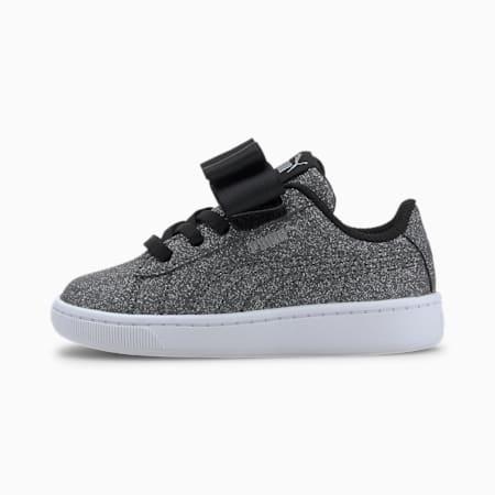 Vikky v2 Ribbon Glitz Toddler Shoes, Puma Black-Puma Silver-White, small