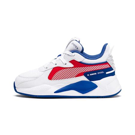 Zapatos RS-X Hard Drive para niño pequeño, Puma White-High Risk Red, pequeño
