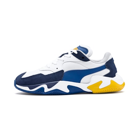 Storm Ray Youth Trainers, Peacoat-Puma White, small