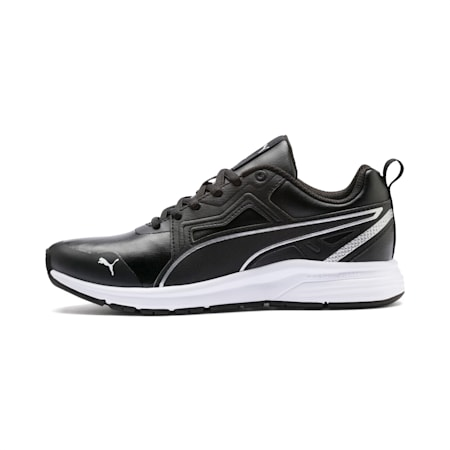 Pure Jogger Youth Shoes, Puma Black-Puma Silver-White, small-IND