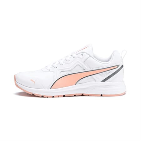 Pure Jogger Youth Shoes, White-Peach Parfait-A Silver, small-IND