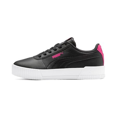 Carina L Youth Mädchen Sneaker, Puma Black-Puma Black, small