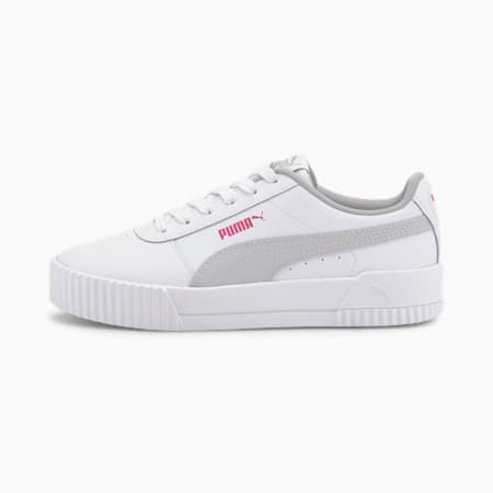 Basket Carina L Youth pour fille, Puma White-Gray Violet, small