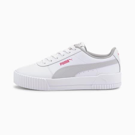 Carina L Youth Mädchen Sneaker, Puma White-Gray Violet, small