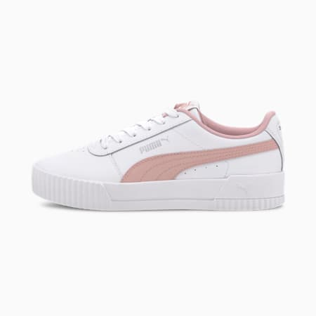 Carina L sportschoenen voor oudere kinderen, Puma White-Peachskin, small