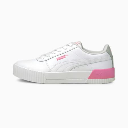 Carina L Youth Trainers, Puma White-Puma White-Sachet Pink, small-GBR