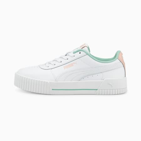 Carina L Youth Trainers, Puma White-Lotus, small-GBR