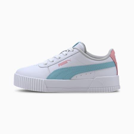 Carina L Kids Mädchen Sneaker, Puma White-Gulf Stream, small