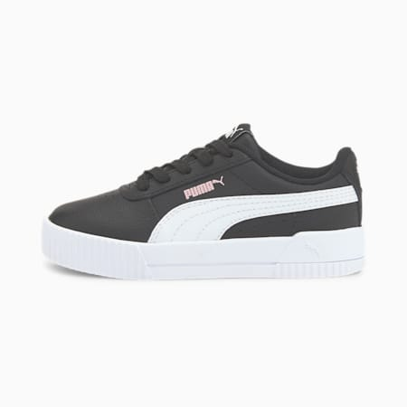Zapatos Carina para niños pequeños, Puma Black-Puma White-Peachskin, pequeño