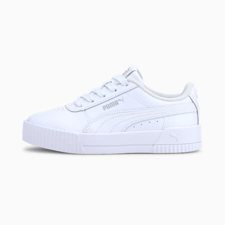 Carina L Kids Mädchen Sneaker, Puma White-Puma White-Gray Violet, small