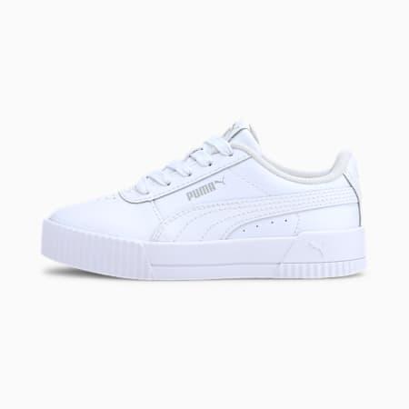 Zapatos Carina para niños pequeños, Puma White-Puma White-Gray Violet, pequeño