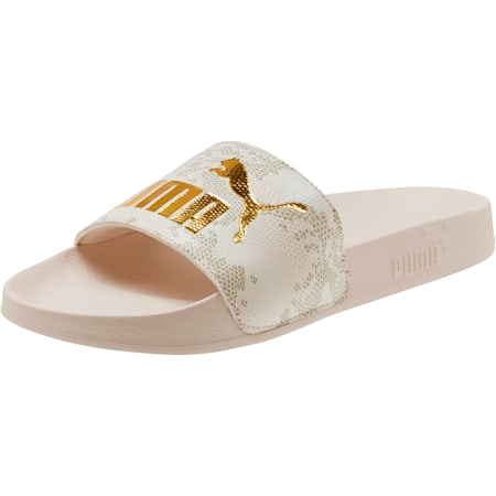 Leadcat Snake Lux Women's Slides, Pastel Parchment-Puma Gold, small
