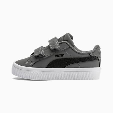 Smash Vulc Babies Sneaker, Steel Gray-P Black-P White, small